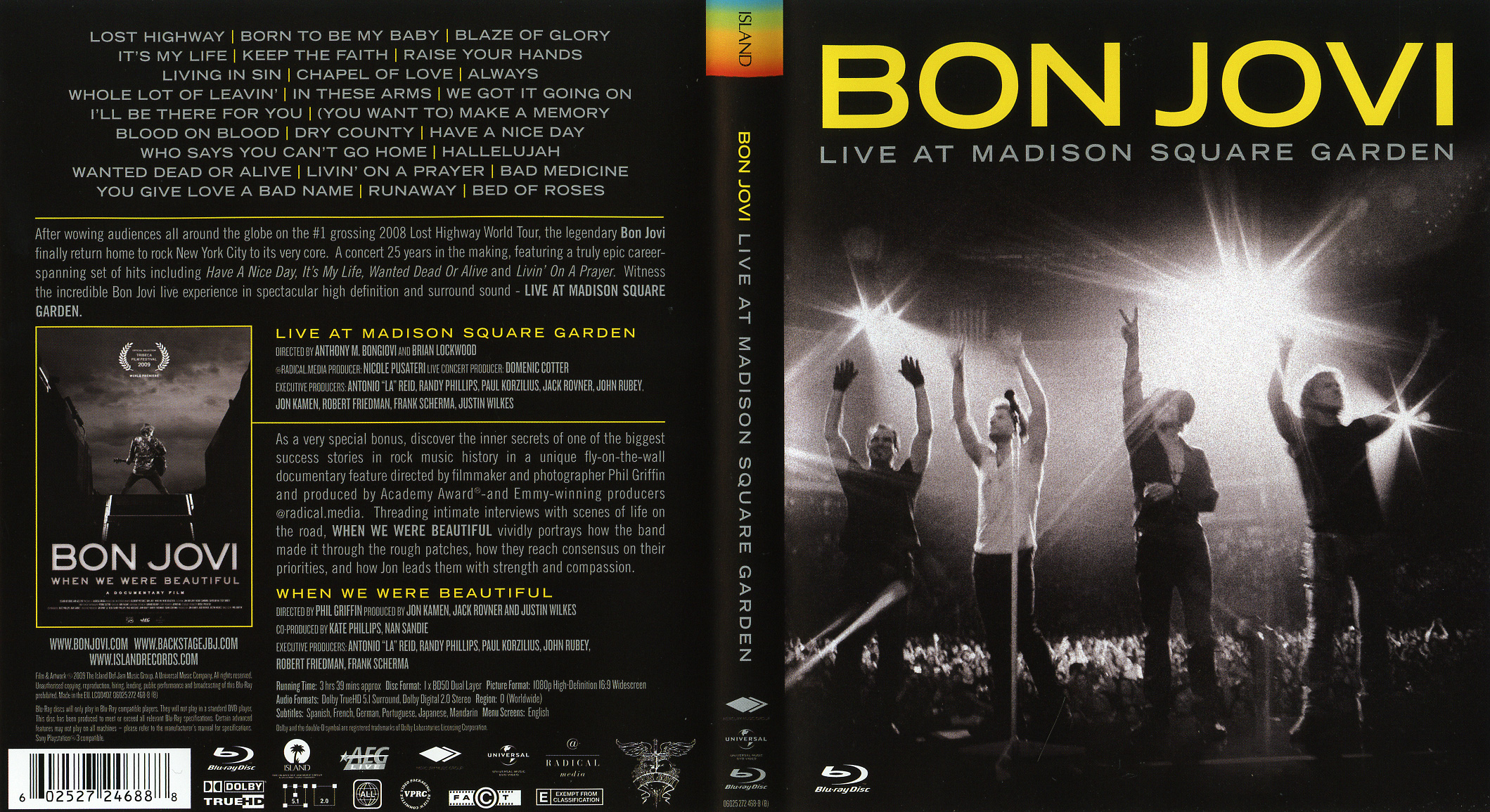 Bon jovi live at madison square garden blu ray cd sniper reference collection of high for Bon jovi madison square garden