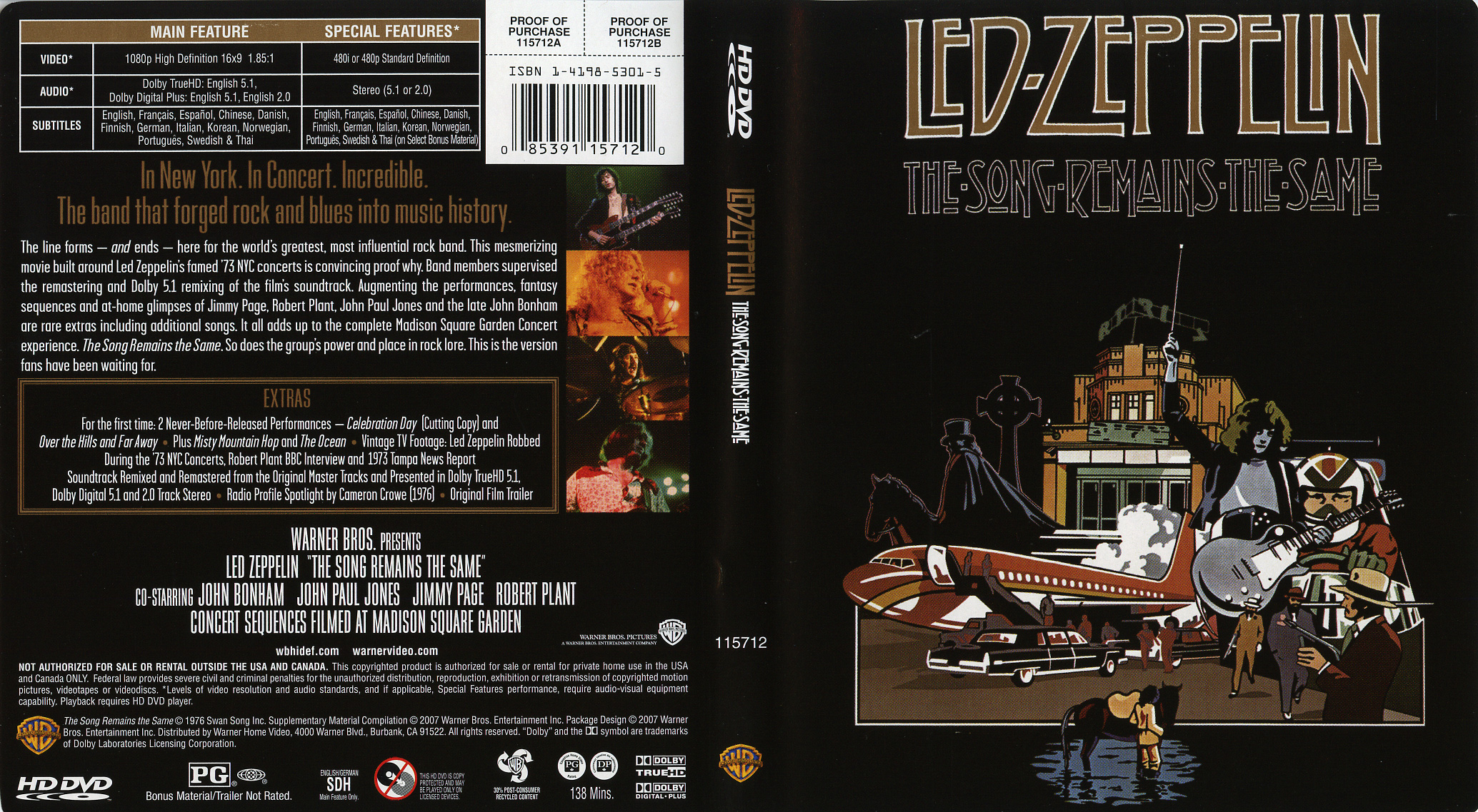 Led Zeppelin: The Song Remains the Same (HD-DVD) - CD Sniper