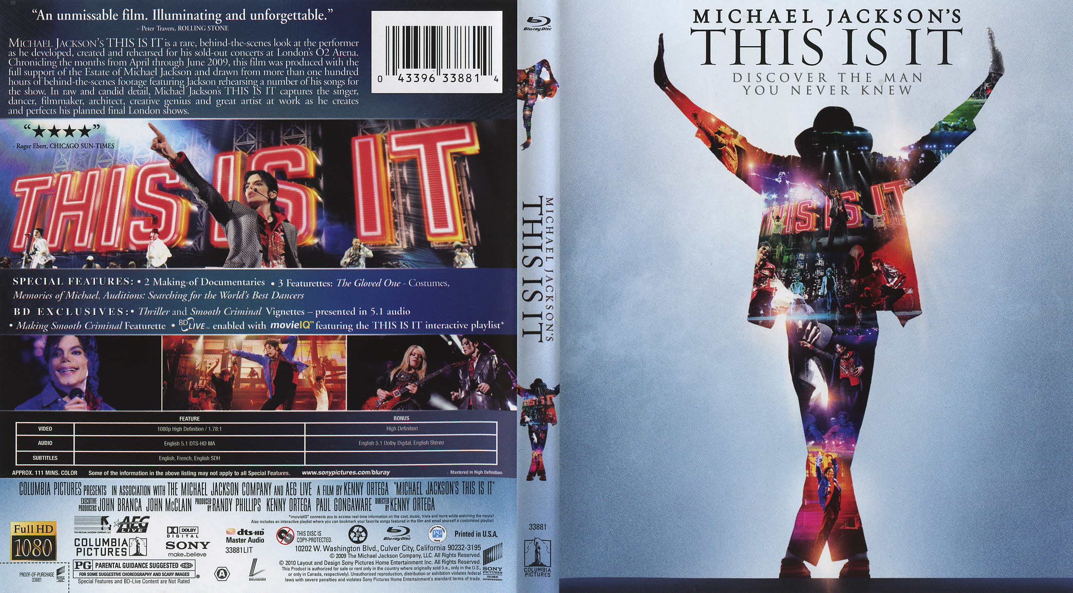 Michael Jackson: This Is It (Blu-Ray) - CD Sniper Reference