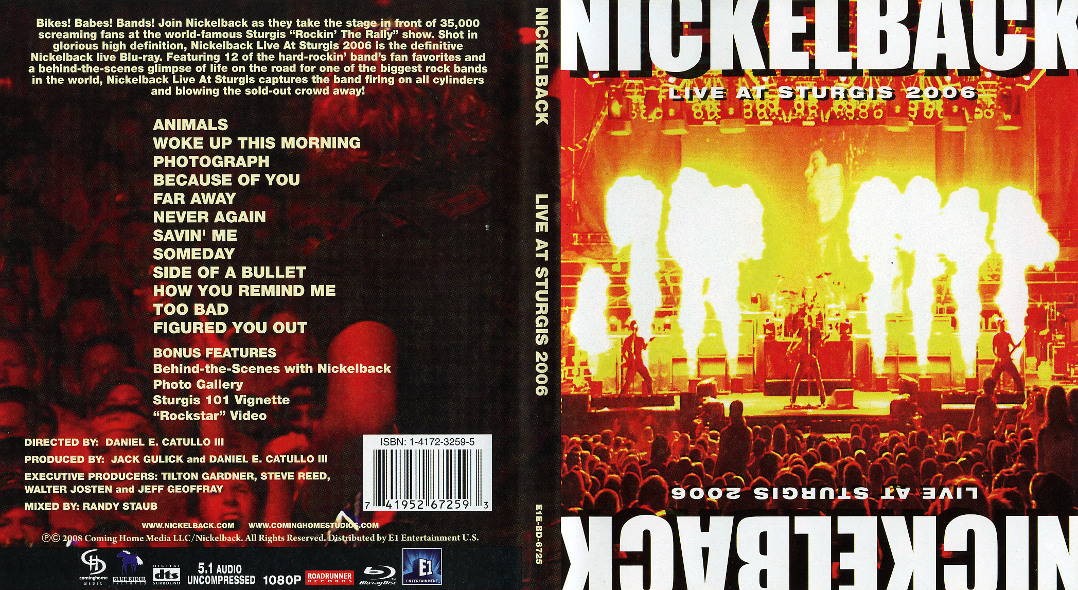 Nickelback Live At Sturgis 2006 Blu Ray Cd Sniper