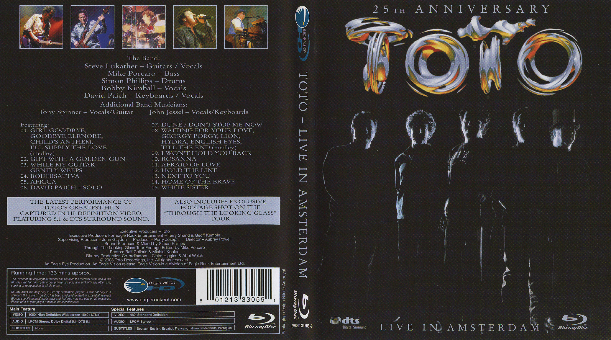 Toto: Live in Amsterdam (Blu-Ray) - CD Sniper Reference Collection ...