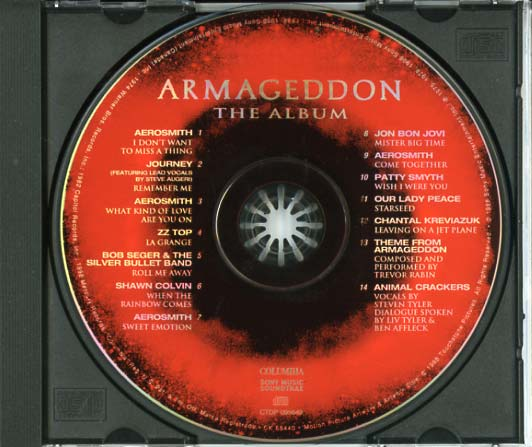 armageddon soundtrack 1998 cd sniper reference
