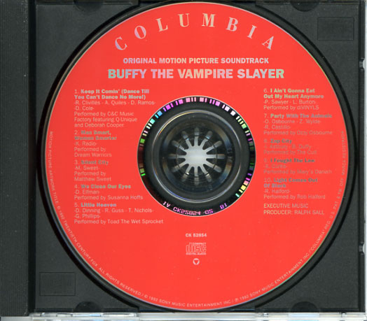 buffy the vampire slayer soundtrack 1992 cd sniper
