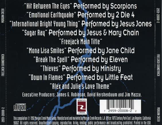 Freejack Soundtrack 1992 Cd Sniper Reference