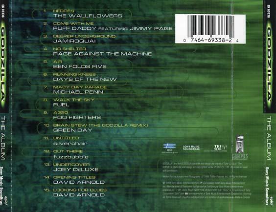 Godzilla Soundtrack (1998) - CD Sniper Reference ...