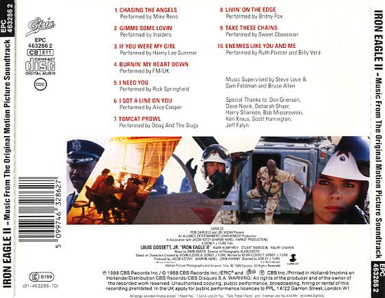 Alice Cooper Iron Eagle II Soundtra...