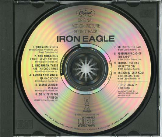 Iron Eagle Soundtrack (1986) - CD Sniper Reference ...