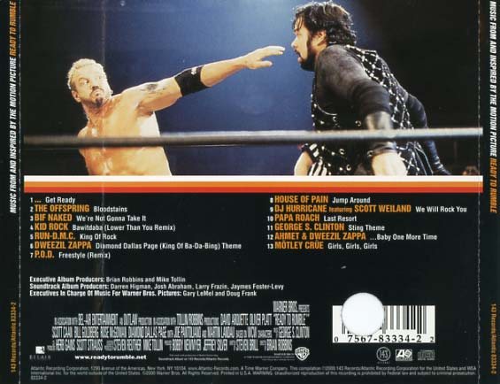 Ready to Rumble Soundtrack (2000) - CD Sniper Reference ...