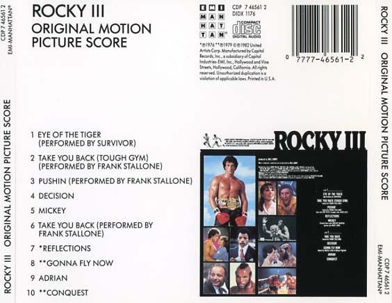 Rocky III Soundtrack (1982) - CD Sniper Reference ...