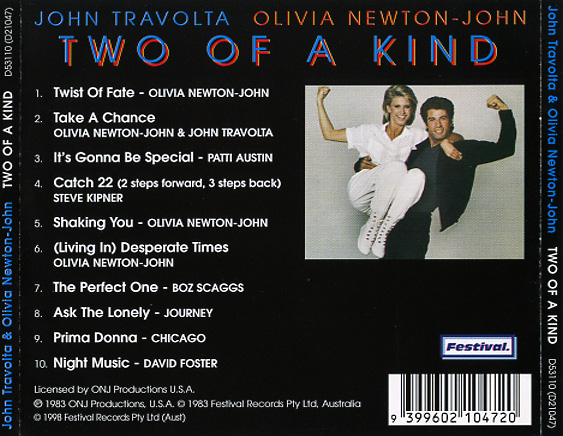 Two of a Kind Soundtrack (1983) - CD Sniper Reference ...