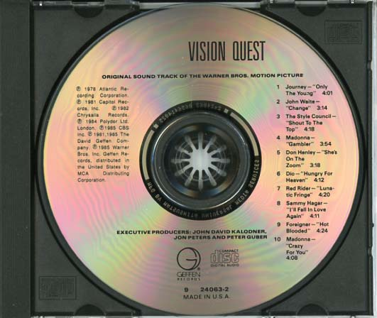 Vision Quest Soundtrack (1985) - CD Sniper Reference ...